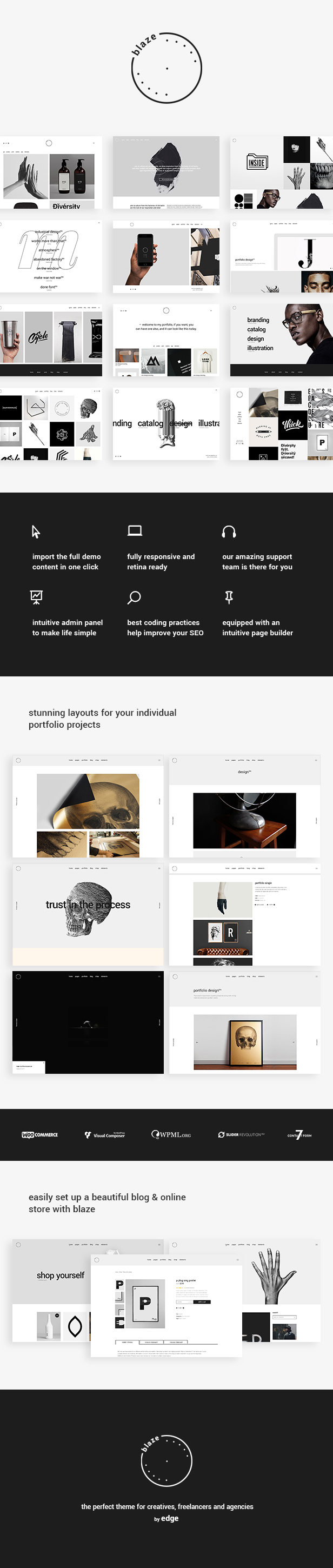 WordPress theme Blaze - A Portfolio Theme with Attitude (Portfolio)